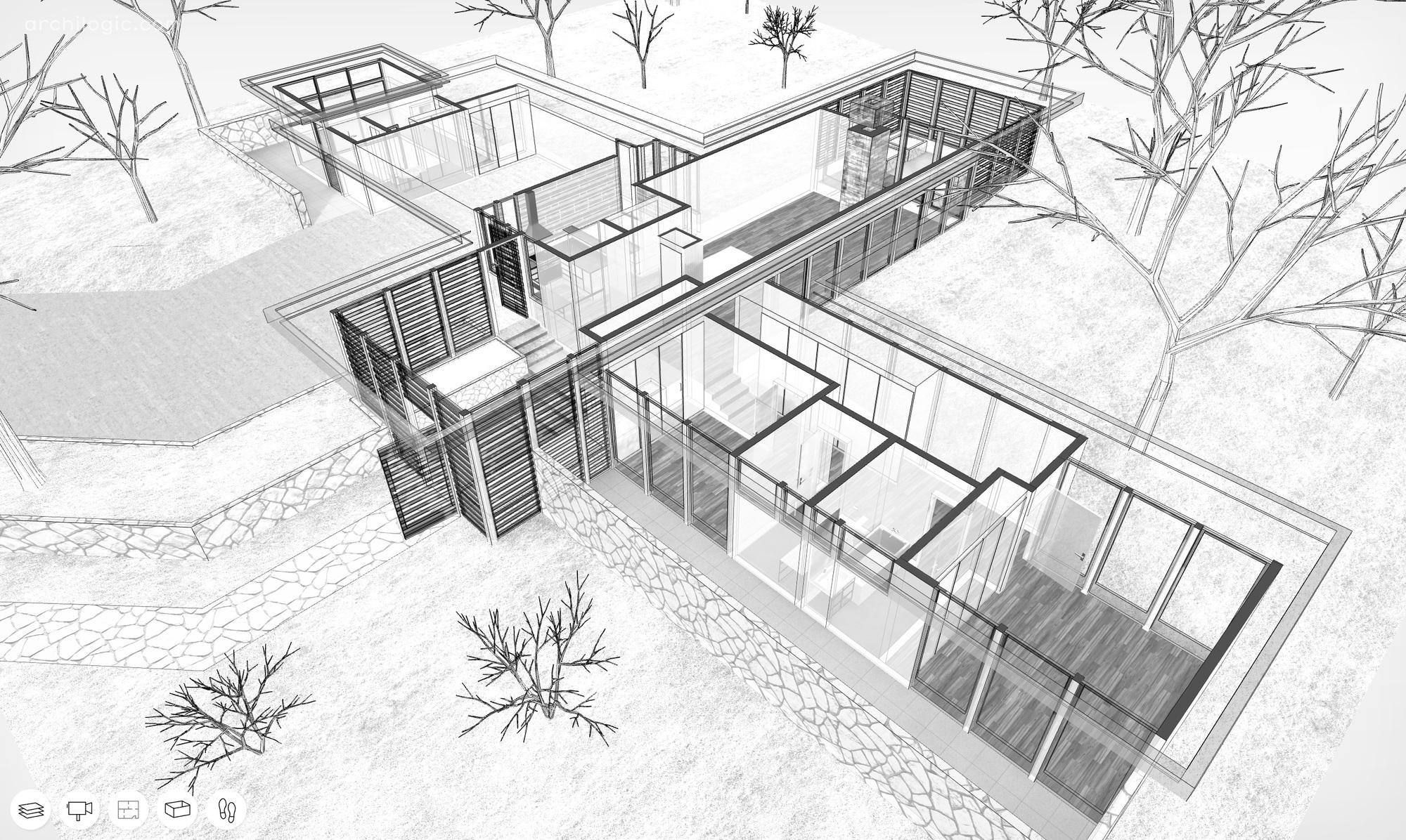 Drawn bulding  architecture design Smith study #12 Reality R