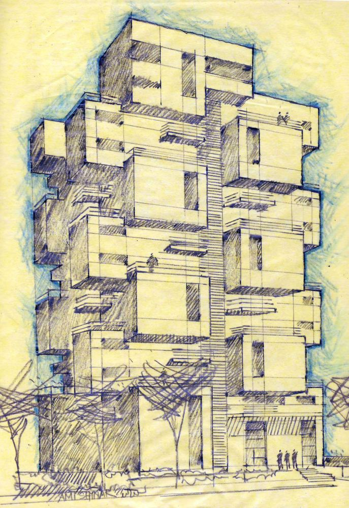 Drawn bulding  architecture design 270 Ami – Drawings 23