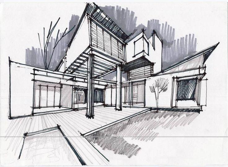 Drawn bulding  architecture design Pinterest 25+ Architecture on Architecture