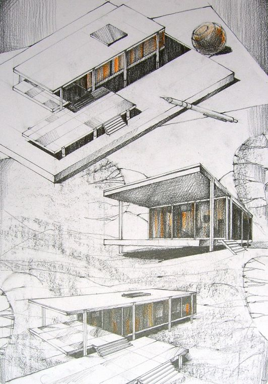 Drawn bulding  architecture design Best A I S 25+