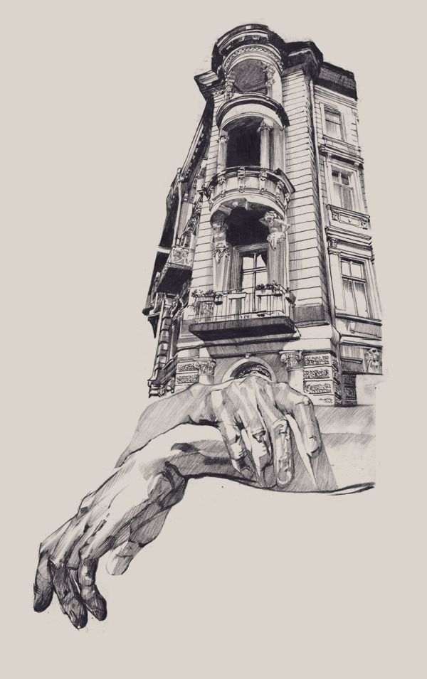 Drawn bulding  artist Drawing Dasha Pliska Old BuildingsArchitecture