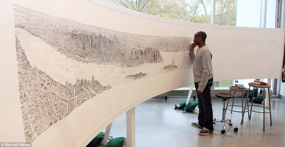 Drawn skyline famous From York York artist Stephen