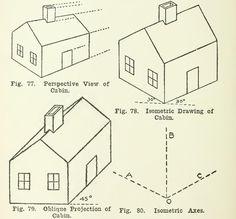 Drawn building axonometric  Isometric square isometric plan