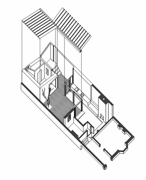 Drawn building axonometric Donaghy house House 69 Pinterest