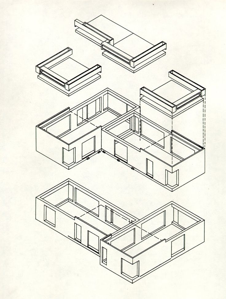 Drawn building axonometric On on and images more