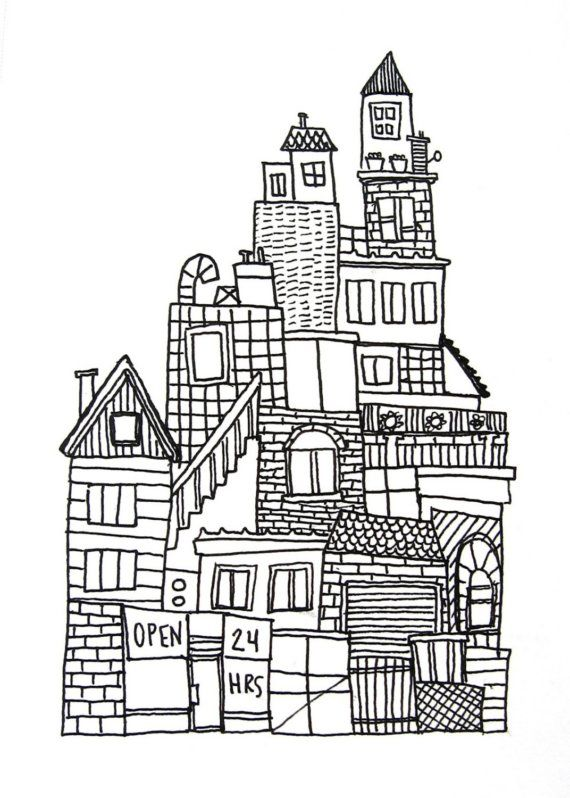 Drawn skyline famous 3 ink drawing Pinterest Best