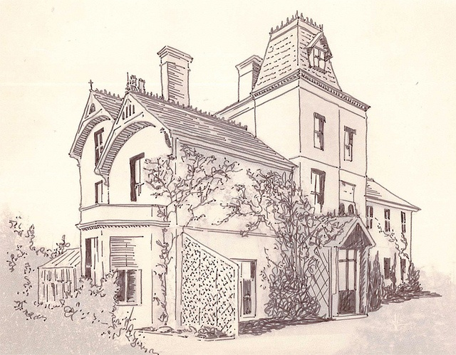 Drawn bulding  brick house House Pinterest best 41 drawing