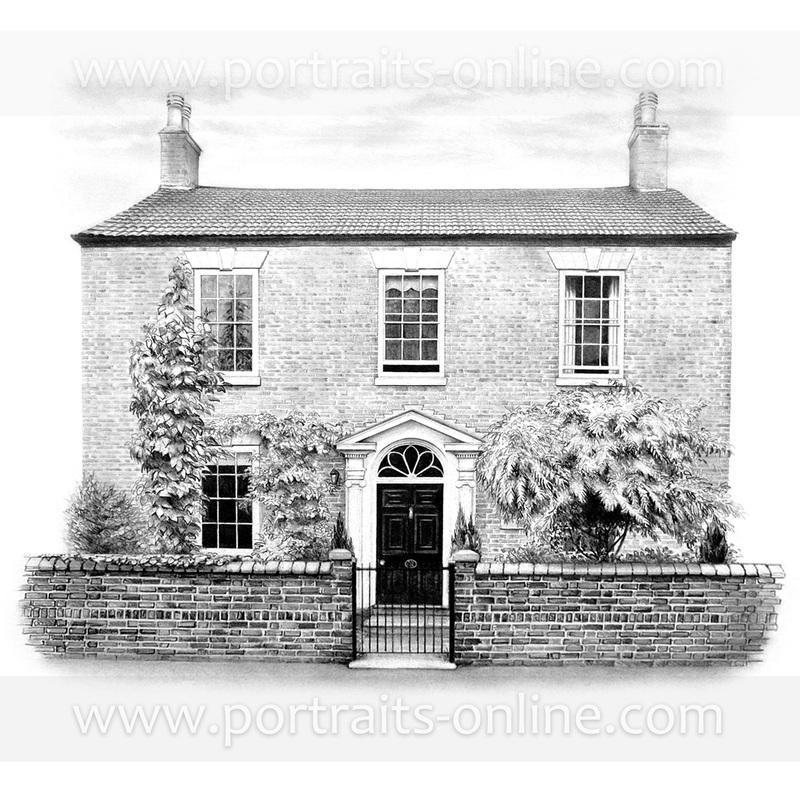 Drawn building pencil art Houses com town Edwardian pencil