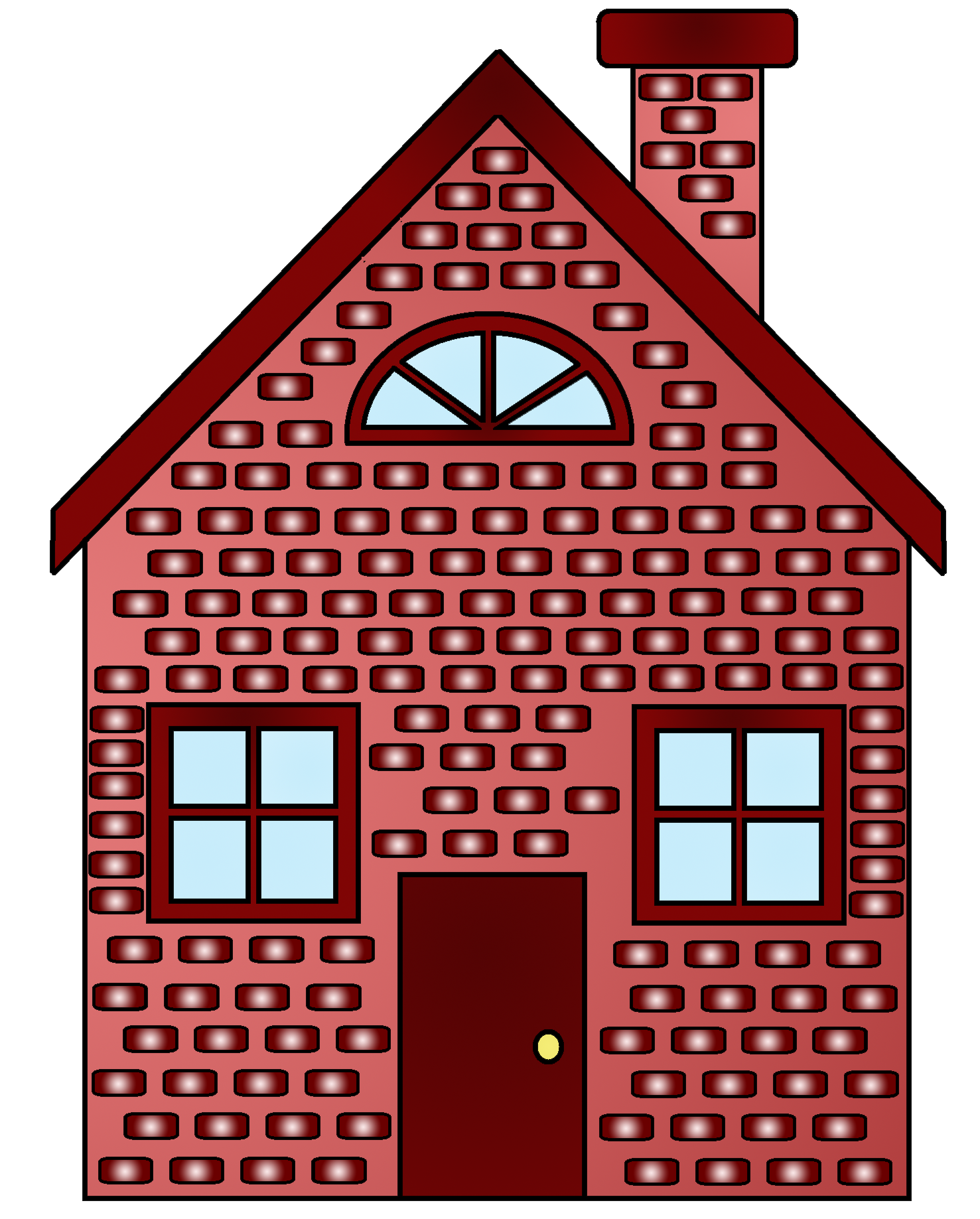 Drawn bulding  brick house Gallery Pigs Clipart Brick Clipart