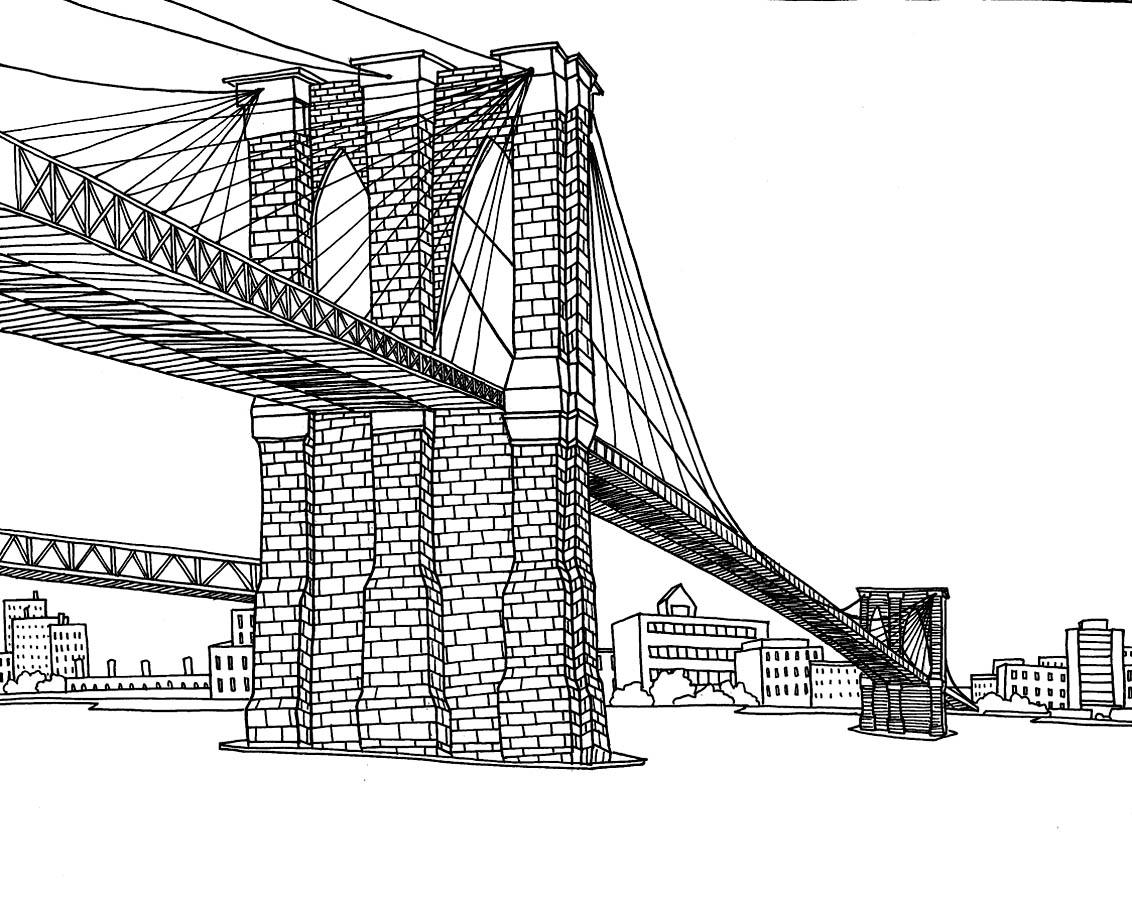 Drawn bridge color New new york  adult