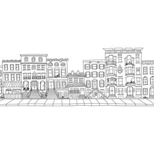 Drawn building brooklyn Custom Brownstone Building about on