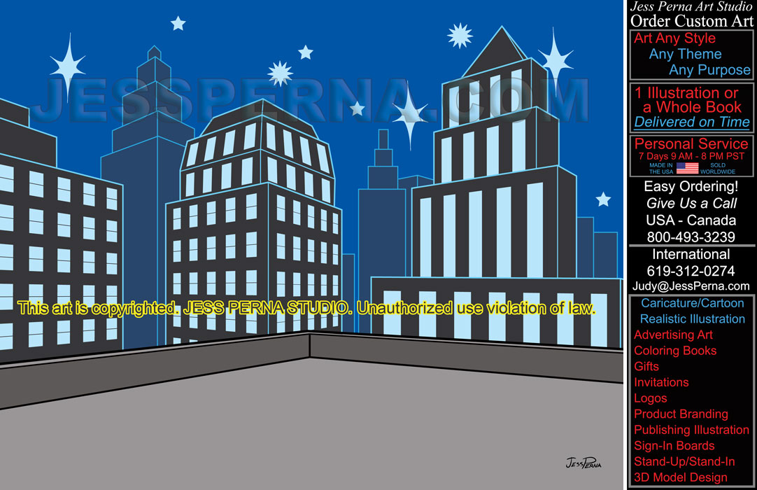 Drawn building caricature And Logo Ad Artwork Advertising