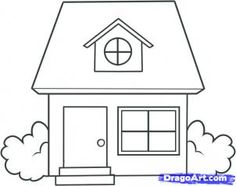 Drawn building caricature  Kids house to How