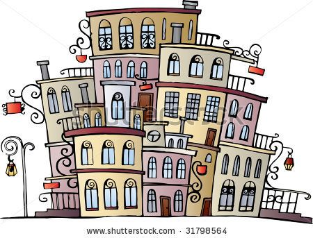 Drawn building caricature Ideas vector town drawing best