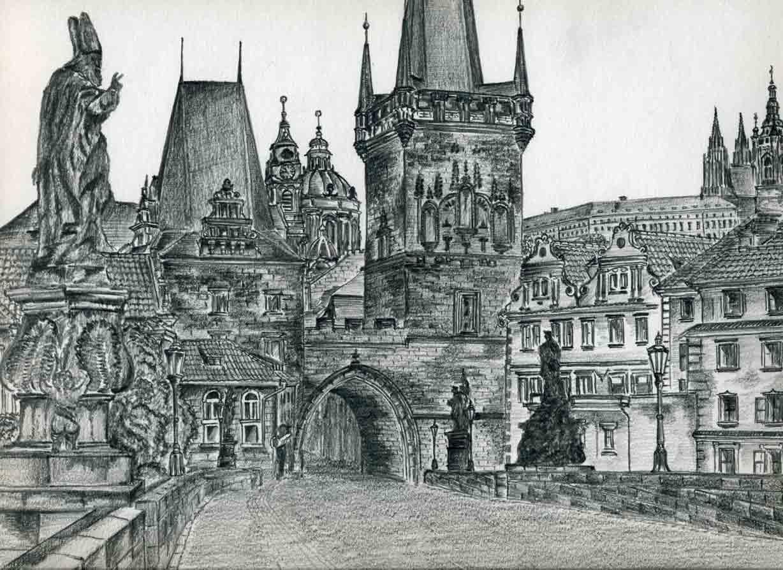 Drawn scenery castle Fun Castle Drawings Prague For