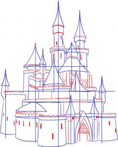 Drawn building medieval castle On 3 castle More Castle