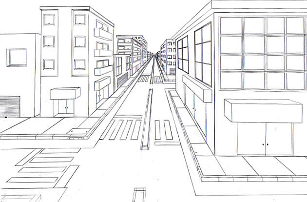 Drawn scenery perspective The Guide perspective point Perspective