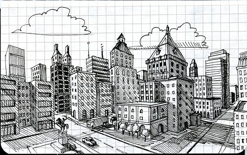 Drawn roadway doodle Point City By Drawing A