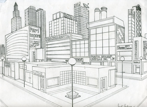Drawn scenery city  Find more Jeng Image