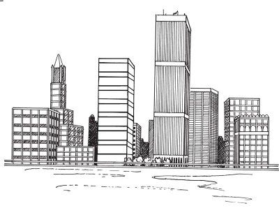 Drawn scenery city building In 10+ on a Best
