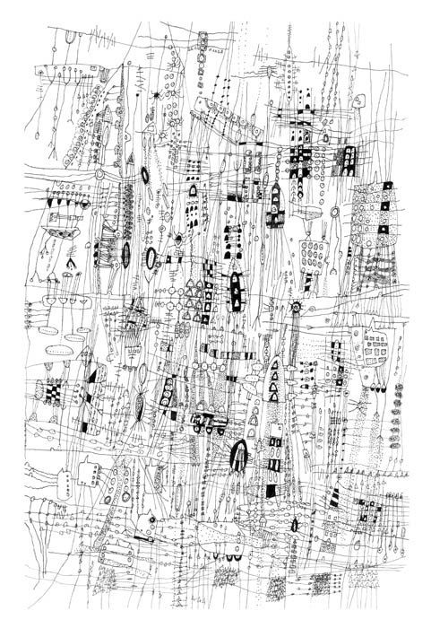 Drawn scenery city traffic Landscape art inches 25+ drawing
