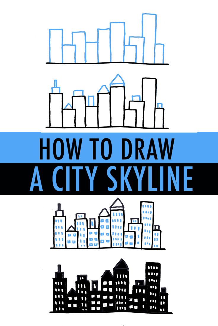 Drawn shapes hipster Skyline How City  Ways