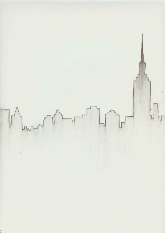 Drawn skyline easy Pinterest drawing ideas Download City