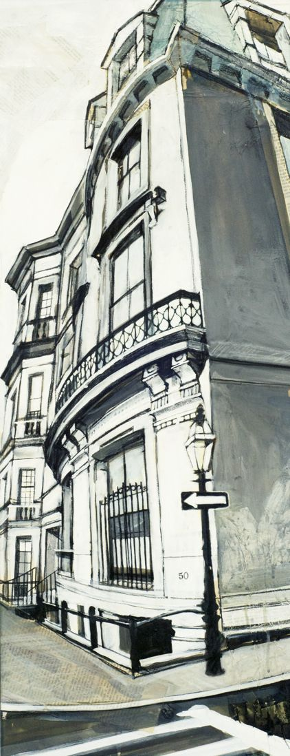 Drawn scenic city building America painting Best street drawing