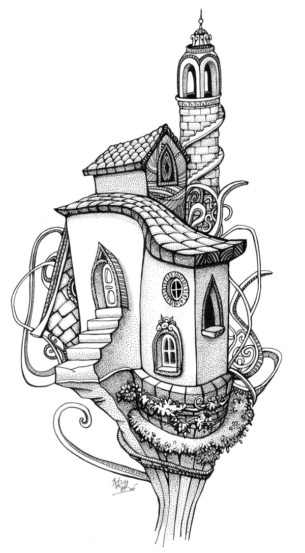 Drawn hosue colouring book Black ideas House by 25+