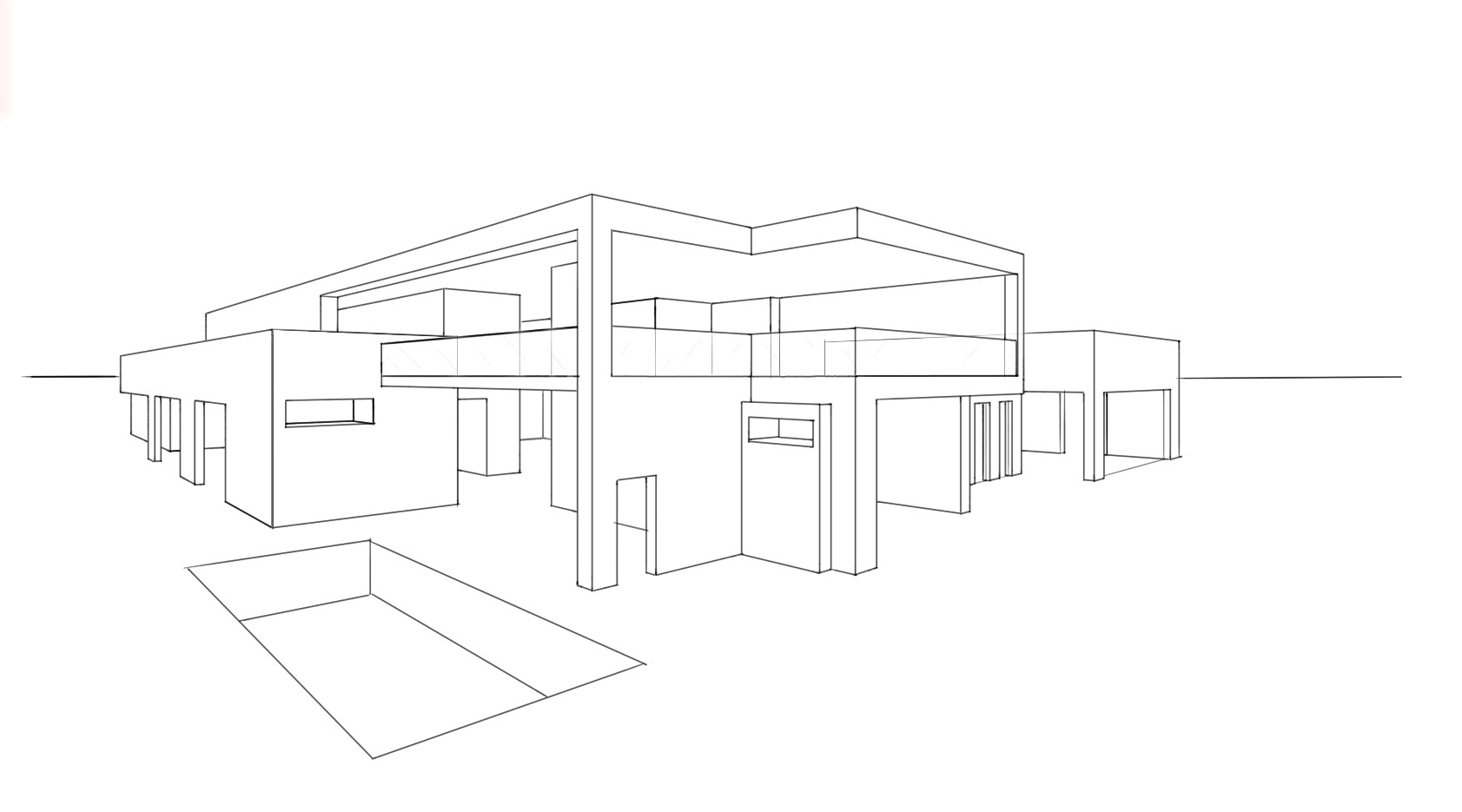 Drawn house modern architectural design A ARCHITECTURE HOUSE #6: DESIGN