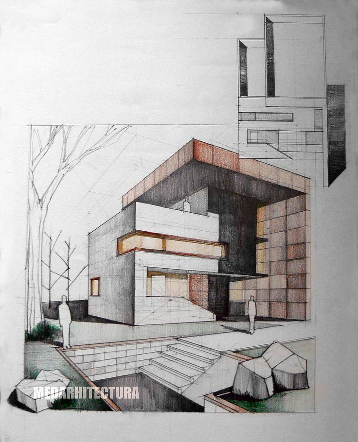 Drawn building contemporary 1363 Architectural 3D on drawing