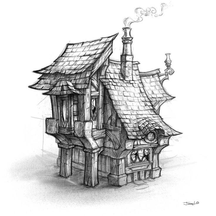 Drawn village dream world #12