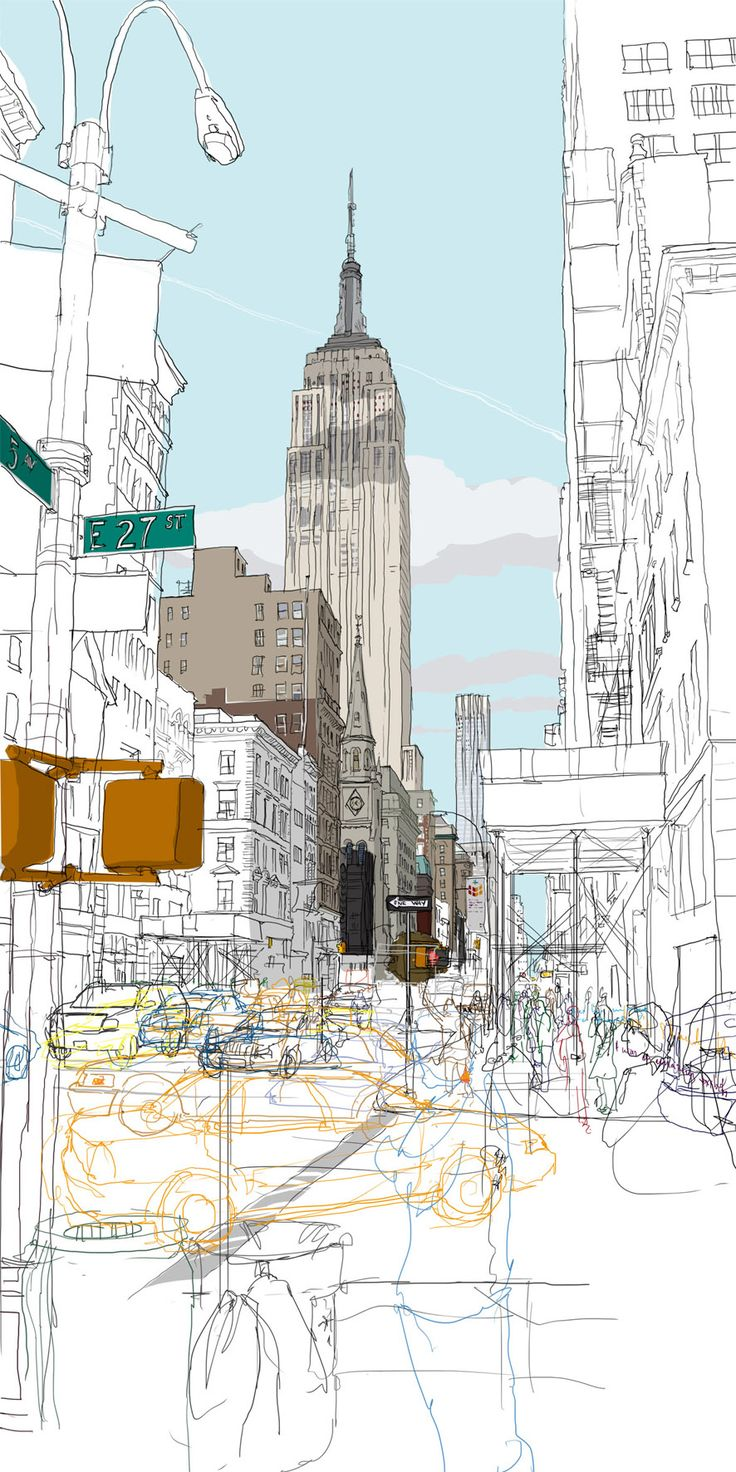 Drawn bulding  creative State /// on Empire drawing