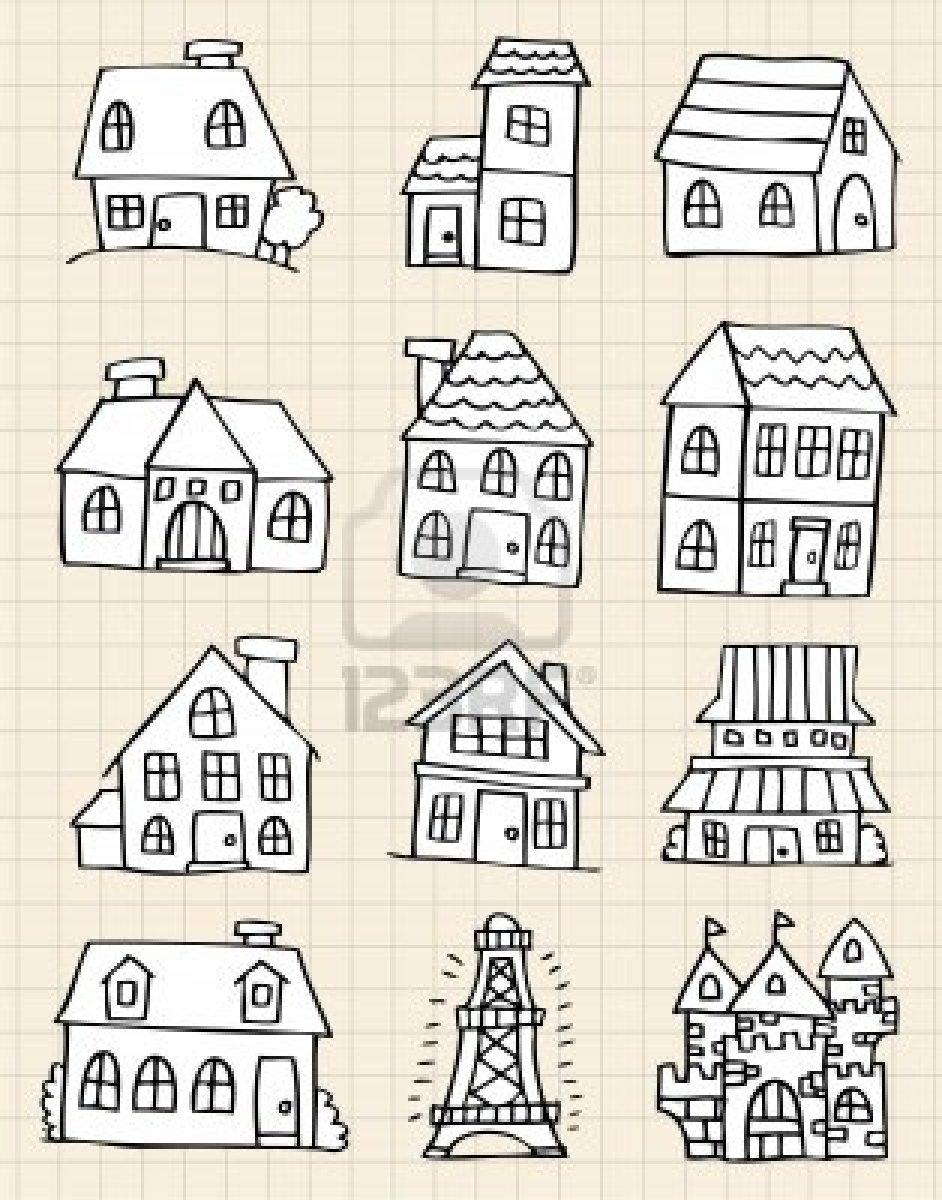Drawn hosue cute Stock Photo  Pinterest house