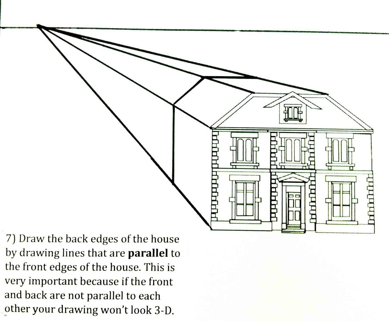 Drawn building dimensional Helpful Art The house a