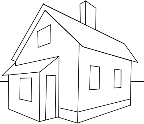 Drawn building dimensional In 2 How Step