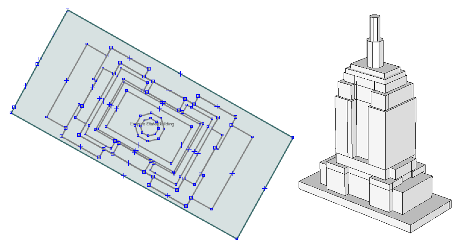 Drawn building dimensional State Building vector Mapzen ·