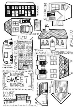 Drawn bulding  doodle And types Ideas Home of