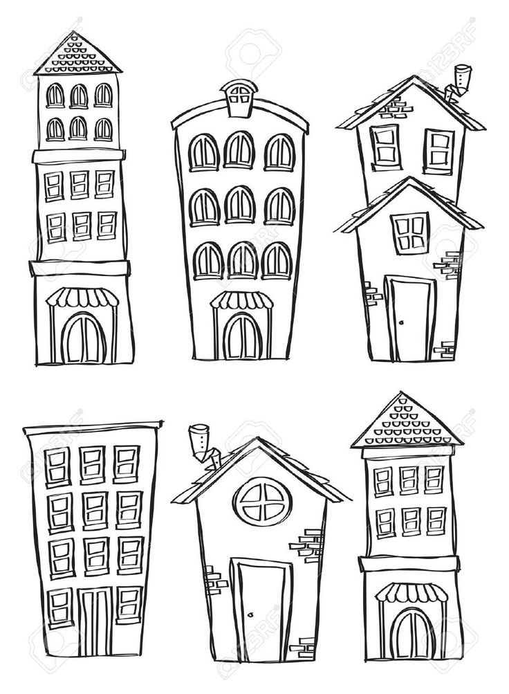 Drawn bulding  doodle On Building Pinterest  drawing