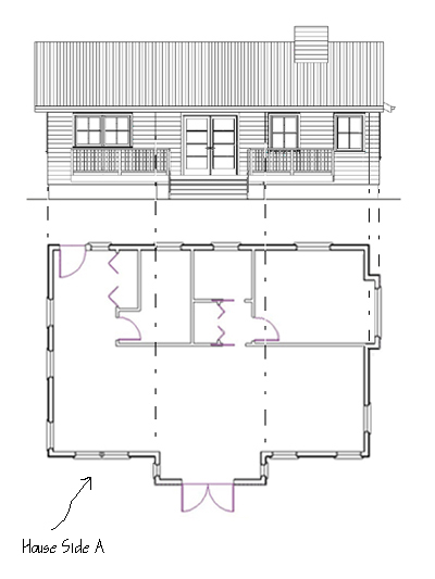 Drawn building elevation drawing Draw How floor Elevations to
