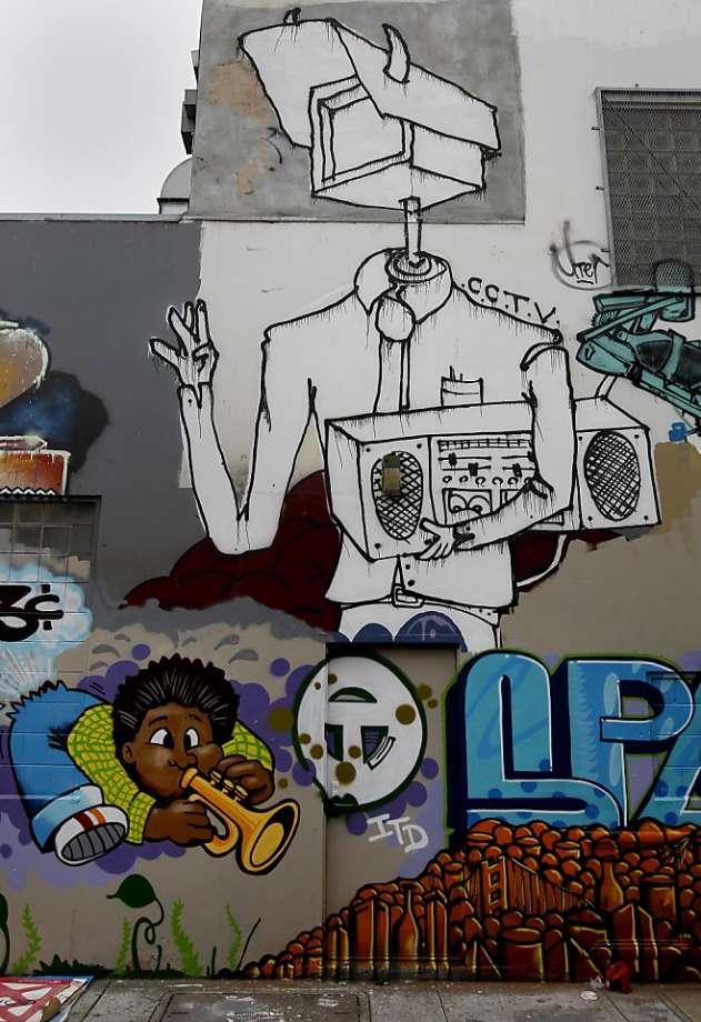 Drawn bulding  graffiti Graffiti up SFGate — on