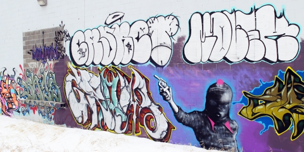 Drawn bulding  graffiti Mural graffiti on Police artists