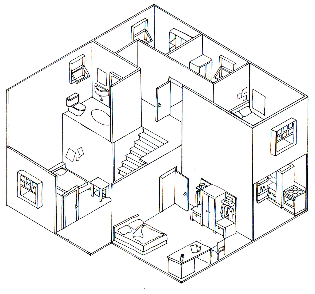 Drawn building isometric Oblique 8057088692_3997fc0548_b drawings Technical –