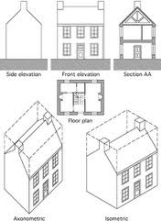 Drawn building isometric Orthographic Pinterest Orthographic orthography and