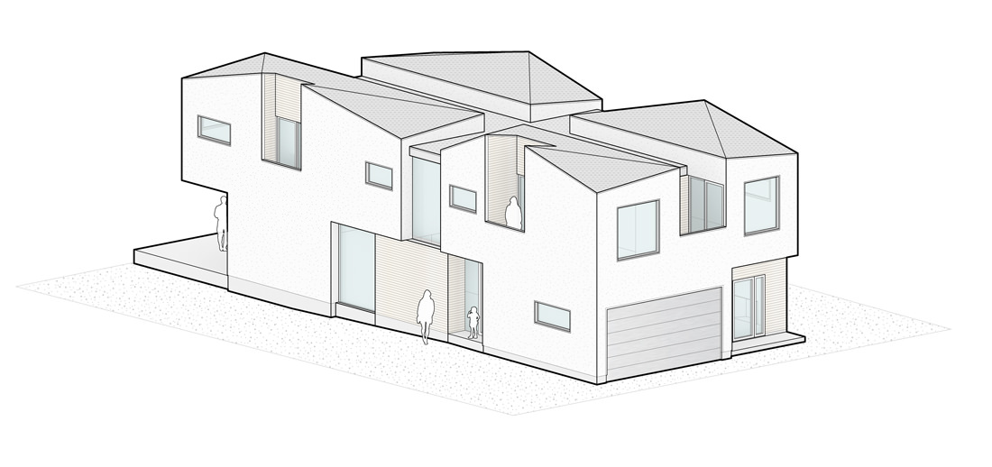 Drawn building isometric Was northwest of view Hughes