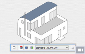 Drawn building isometric Parallel projected on draw CorelDRAW
