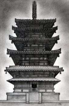 Drawn samurai temple Pagoda japanese  how Google