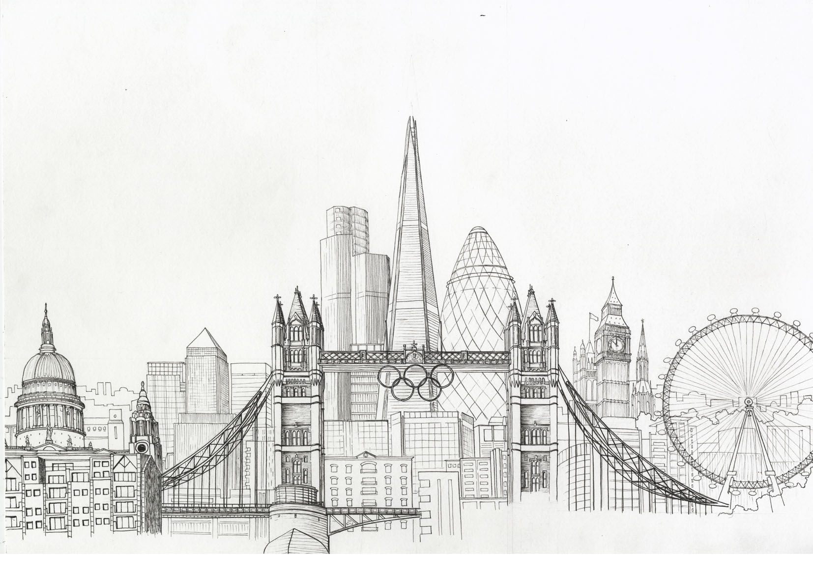 Drawn skyline easy Pinterest skyline drawing drawing city
