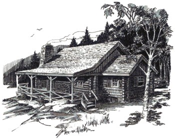 Drawn bulding  log cabin Building Your Log A Own