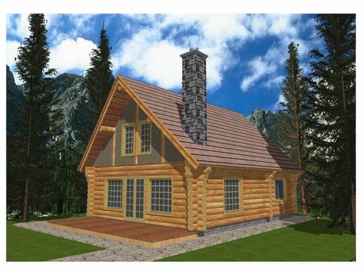 Drawn bulding  log cabin The House House Log Plan